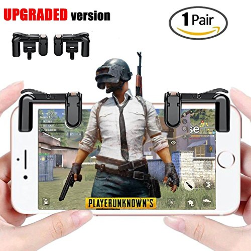 [Upgraded Version] Mobile Game Controller - Sensitive Shoot and Aim Triggers for PUBG/Knives Out/Rules of Survival - L1R1 Mobile Game Trigger Joystick Gamepad for Android iPhone