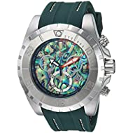 Men's Quartz Stainless Steel and Polyurethane Casual Watch, Color:Green (Model: 25096)