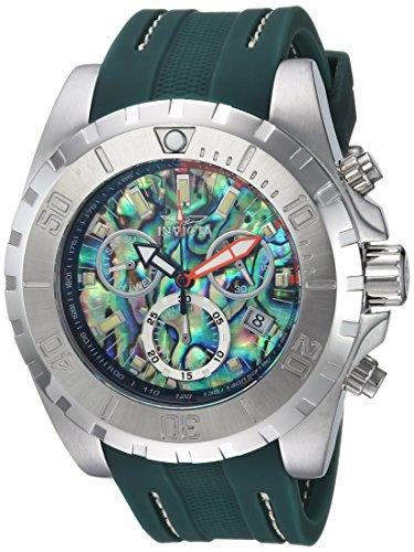 (Invicta Men's Stainless Steel Quartz Watch with Polyurethane Strap, Green, 29 (Model: 25096)