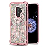 MyBat Cell Phone Case for Samsung Galaxy S9 Plus - Rose Gold Dreamcatcher/Silver Sparkles