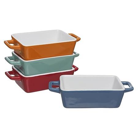 Set de 4 mini fuentes para horno, de la marca Invero, de colores ...