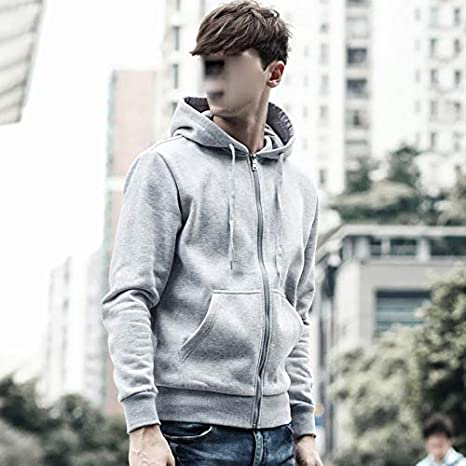 Tianve Mens Casual Sweater Cotton Hooded Jacket Sports Morning Exercise Running Shirt