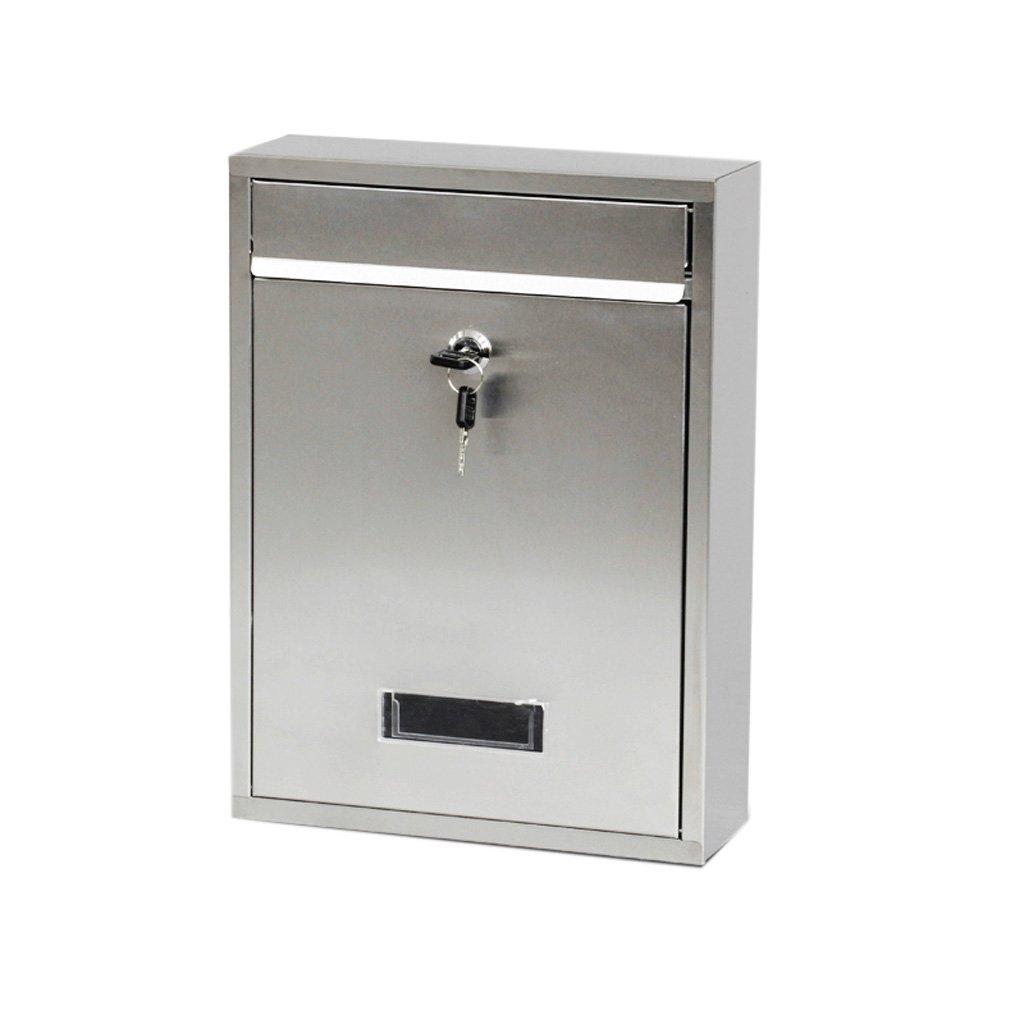 TLMY ステンレス鋼のレターボックスの壁のメールボックスゼネラルマネージャのメールボックス屋外のロックボックスのレポートボックス創造的な時間ボックス メールボックス   B07KBSSN7P