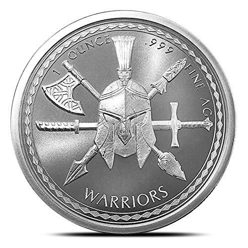 Spartan Warrior 1 Troy oz .999 Fine Silver Round Uncerculated