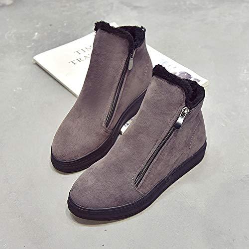 Pour De xinantime Bottes Femmes Talons Neige Les Bas Femmes Chaussures Flockr D'hiver Gris 5RxYTxzq