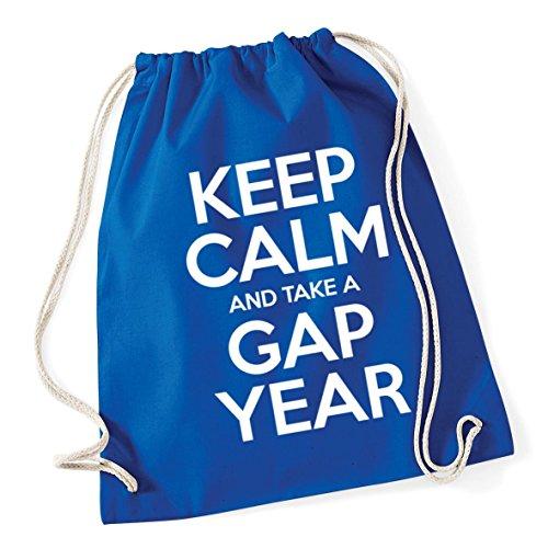 gap School 37cm Keep Bag Sack Drawstring a 46cm HippoWarehouse and Cotton 12 Blue x litres calm year Royal take Gym Kid n1gXwq4A