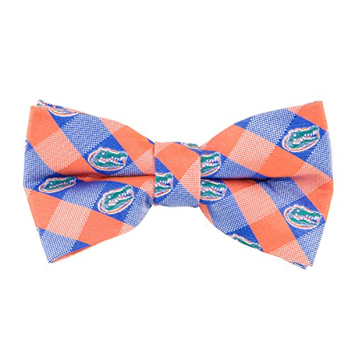Florida Gators Checked Logo Bow Tie - NCAA College Team Logo