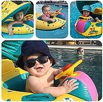 Sunshine smile Flotador para bebé Barco Inflable Flotador Anillo Flotador para Bebés Bebé Anillo de Natación con Asiento