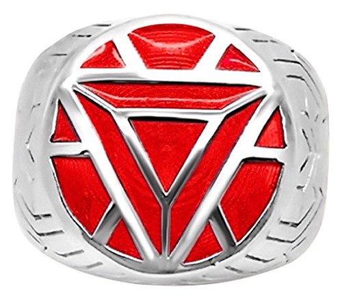 Marvel's Iron Man ArmorWomen's Ring in Sterling Silver - 4 Red