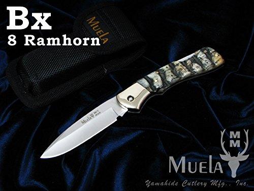 Muela(ムエラ) BX-8CA バックロックナイフ 80mm ラムホーンハンドル フォールディングナイフ 【日本正規品】 B07428RVKK