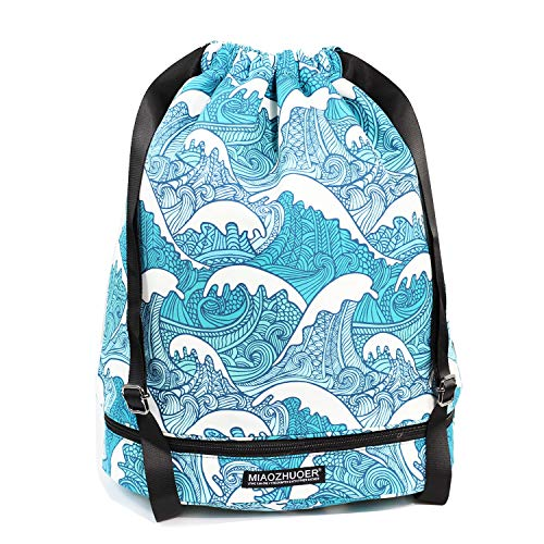 f1a53c0f5f90 Dry Wet Drawstring Bag Waterproof String Backpack Swim Pool Beach Travel Gym  Bag