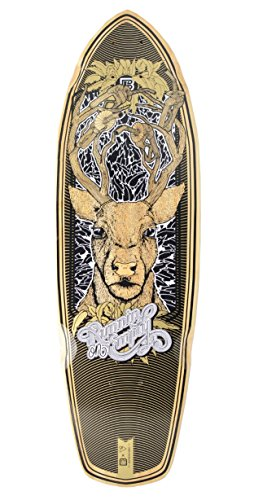 Bambú Patinetas Boardwalk Cruiser corriendo en Graphic - Tabla de skate (vacío, 70,5 x 21,6 cm