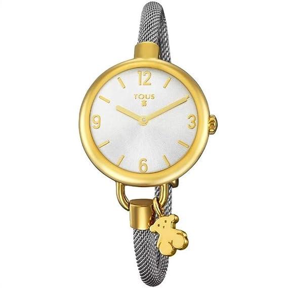 Reloj Tous Hold de acero IP dorado con correa de acero REF. 700350220: Amazon.es: Relojes