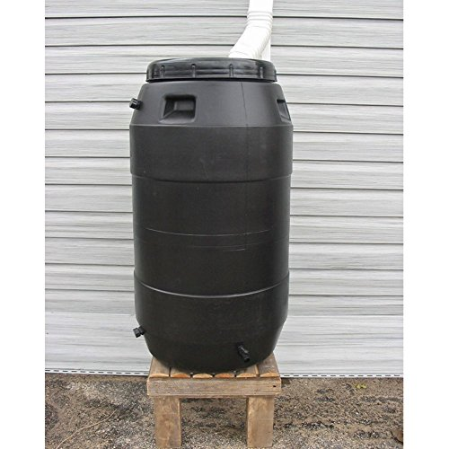 (Upcycle 55 Gallon Black Rain Barrel)