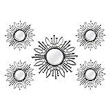 Hermoso Silver Burst Wall Mirror (Set of 5)