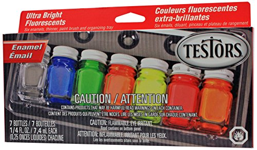Testors Enamel Paint Set, 9132X, Fluorescent