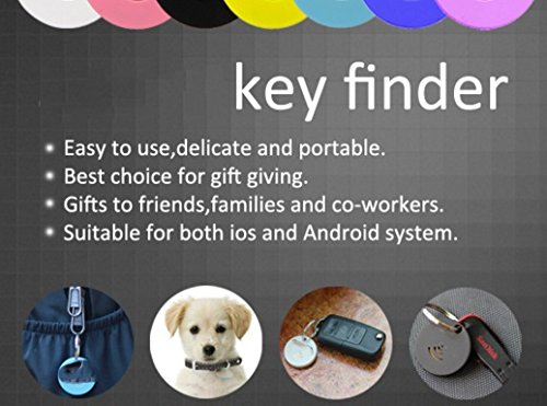 Bluetooth iOS and Android free App Anti-lost/Theft device Key finders with location and audable alarm ( White )