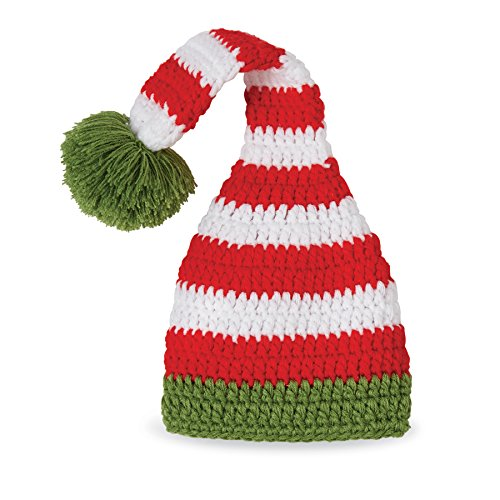 Christmas Holiday Baby Hats (Mud Pie Baby Holiday Christmas Crochet Elf Hat, Red, 0-3 Months)