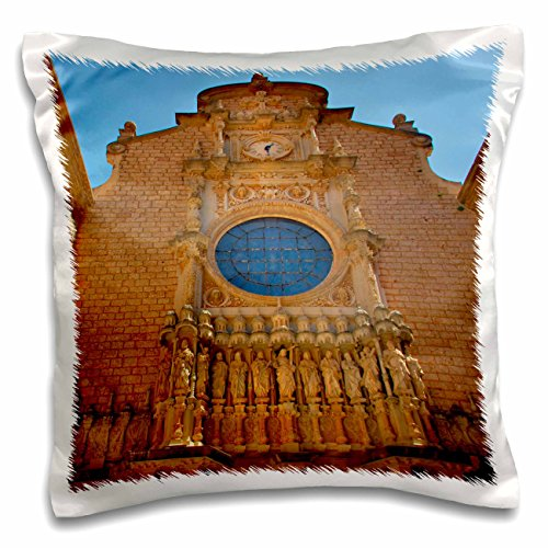 3D Rose Montserrat Monastery Catalonia Spain Pillow Case, 16'' x 16'' by 3dRose
