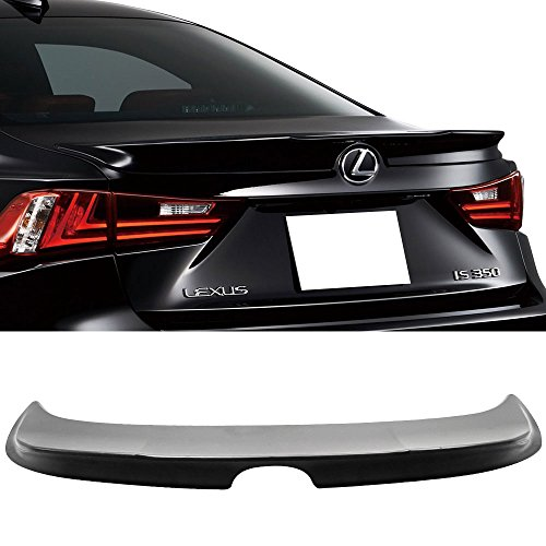 Trunk Spoiler Fits 2014-2016 Lexus IS250 IS300 IS350 | TRD Style Unpainted Black ABS Rear Tail Lip Deck Boot Wing Other Color Available By IKON MOTORSPORTS | (Lexus Is300 Spoilers)