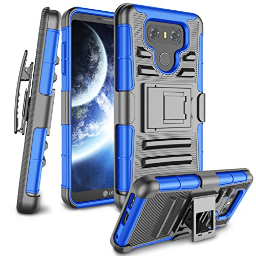 LG G6 Case, LG G6 Holsters Clips, Zectoo [Heavy Duty] Full Body Armor With Belt Clip Kickstand Shockproof Carrying Hybrid Case Cover for LG G6 LG G6 H871 H782 US997 (Belt Clips Carrying Cases)