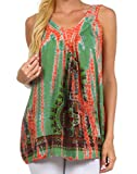 Sakkas 1815 Bohemian Spirit Relaxed Fit Blouse - Olive - One Size