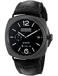 Men's PAM00384 Radiomir Analog Display Swiss Automatic Black Watch