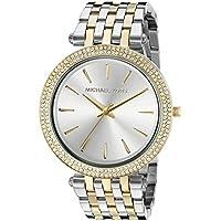 Michael Kors reloj tamaño mediano color dorado/silvertone, acero inoxidable darci three-hand glitz, 39 mm, Dos tonos