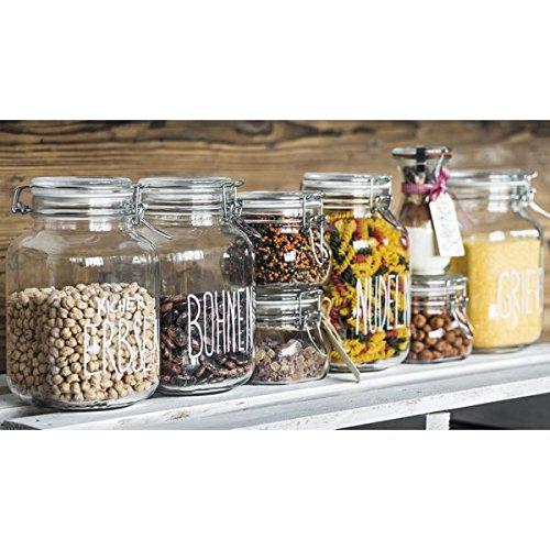 Bormioli Rocco Fido Glass Square Jar, 3 Liter by Bormioli Rocco (Image #1)
