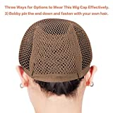 Dreamlover Brown Mesh Wig Caps for Long Hair, 2 Pack