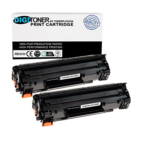TonerPlusUSA Compatible Toner Cartridge Replacement for HP CE285A ( Black , 2-Pack )
