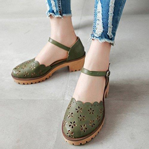 Cheville RAZAMAZA Chaussures 700 Bride Green Ete Femmes ttnw1aqFf