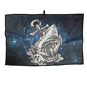 Portable Golf Towel Big Mouse Anchor Shark Unisex Casual Sports Towel 38X60cm