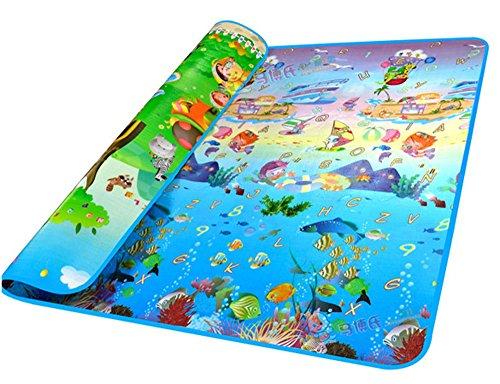 Lantusi Baby Kid Toddler Play Crawl Ocean Pattern Mat Carpet Waterproof Foam Blanket Rug for In/Out (Ocean Play Gym)