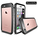 iPhone 6S Plus/6 Plus Waterproof Case, Dooge IP68 Certified Snowproof/Shockproof/Dirtproof Fully Sealed Underwater Fullbody Heavy Duty Protective Case w/Built-in Screen Protector for iPhone 6S/6 Plus