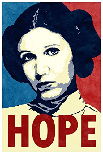 Princess Leia Hope Movie Poster 12x18