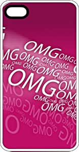 OMG Oh My God Pink & Loud Clear Rubber Case for Apple iPhone 4 or iPhone 4s