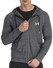 Running Jacket for Men, Lightweight Long Sleeve Track Sport Full Zip Hoodies Pullover Coat