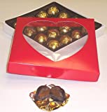 Scott's Cakes 1 Pound Dark Chocolate Covered Caramels in a Heart Box