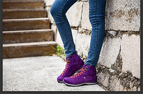 Fashion Coffee Booties Low Casual color Heel Wedge Shoes4 Brown Violet Violet white Outdoor senximaoyi men's 5wP0qHnp