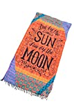 Indian Mandala Boho Tapestry live by the sun love by the moon Enjoy Sun and Moon Beach Towel Blanket