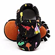 MEGNYA Leather Baby Boys&Girls First Walkers Soft Sole Tassel Crib Infant Toddler Shoes(0-24 Months),ZH0117-style 2-11.5