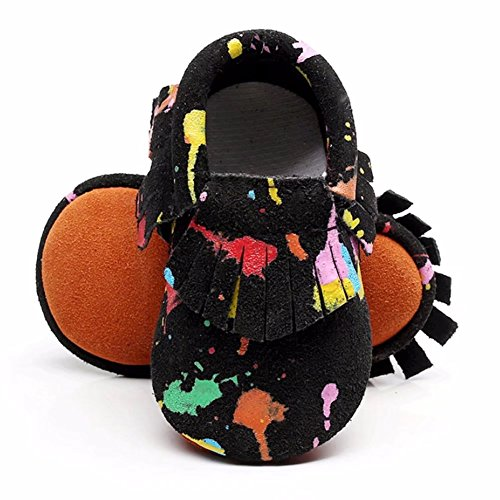 MEGNYA Leather Baby Boys&Girls First Walkers Soft Sole Tassel Crib Infant Toddler Shoes(0-24 Months),ZH0117-style - Shoe Life Walker