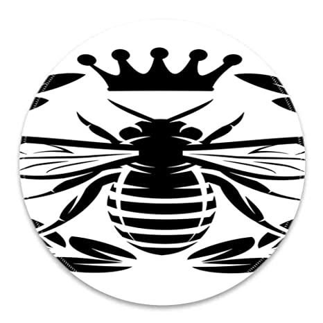 Amazon.com : Round Mouse Pad Mousepad with Queen Bee ...