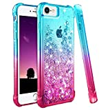 Ruky iPhone 6/6S/7/8 Case, iPhone 6 Case for Girls, [Gradient Quicksand Series] Glitter