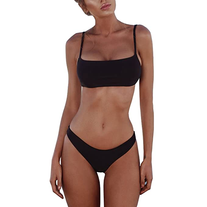 f3c65ced9 Amazon.com  PRETTYGARDEN 2019 Sexy Push Up Padded Brazilian Bikini Set  Swimwear Swimsuit Beach Suit Bathing Suits  Clothing