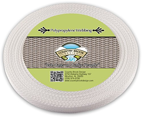 (Country Brook Design | White Polypropylene 1/2 Inch Webbing (25 Yards))