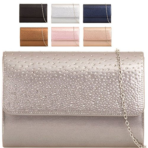Handbag Evening Ladies Designer KH729 Clutch Purse Champagne Women's Bag Gem Bag Envelope Style pzq0p
