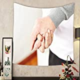 Jacquelyn A. Velasquez Custom tapestry senior citizens in love holding their hands