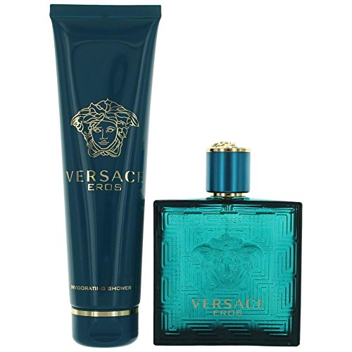 Versace Eros By Versace 2 Piece Gift Set-3.4 Oz Eau De Toilette Spray,5.o Oz Shower Gel For Men 3.4 oz